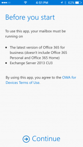 OWA App Before You Start